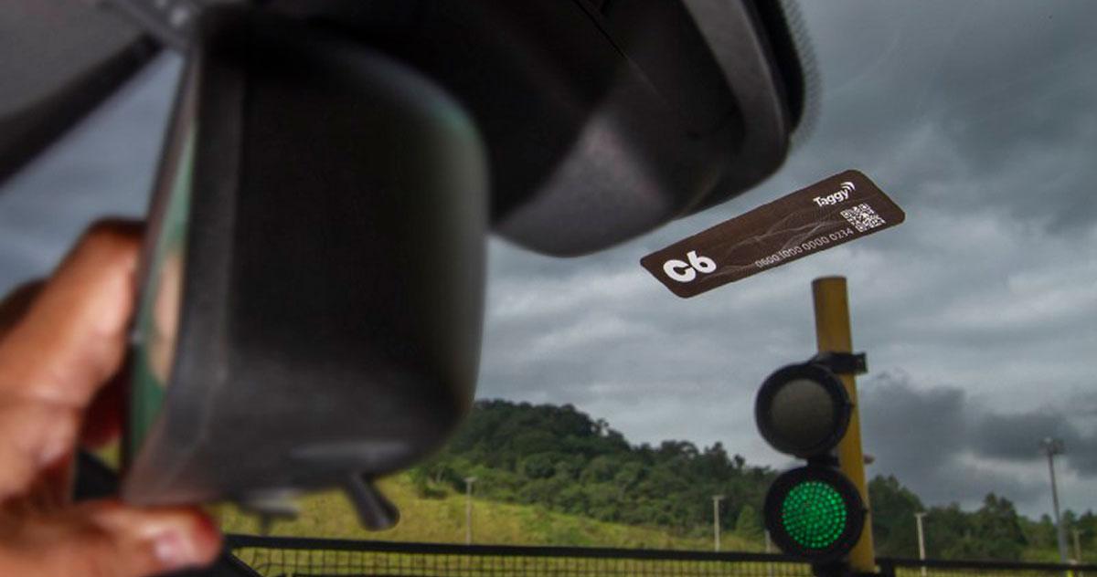 TaggyC6 C6 Bank permite pagamento por tag em pedágios, sem taxas
