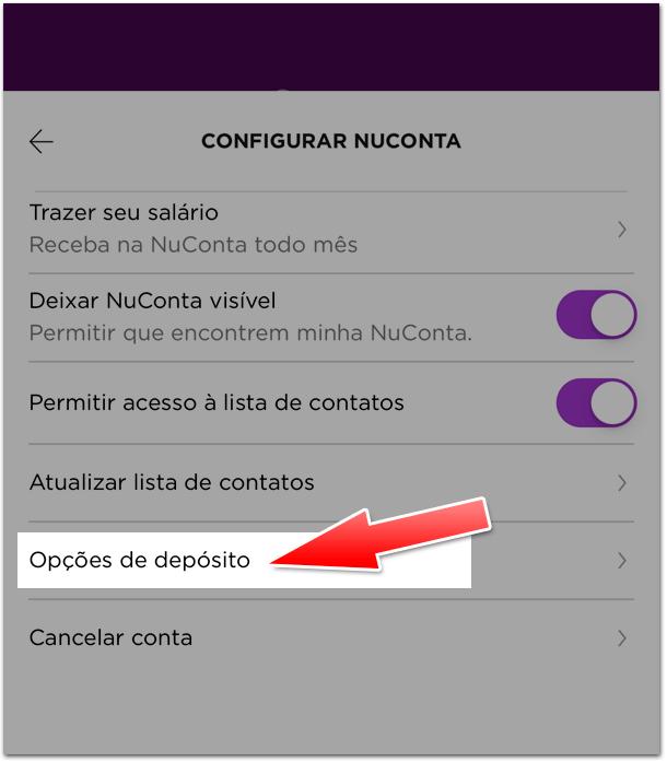 RDB3 Como ativar a opção de RDB na NuConta