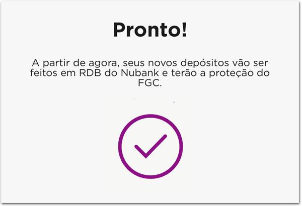 RDB5 Como ativar a opção de RDB na NuConta