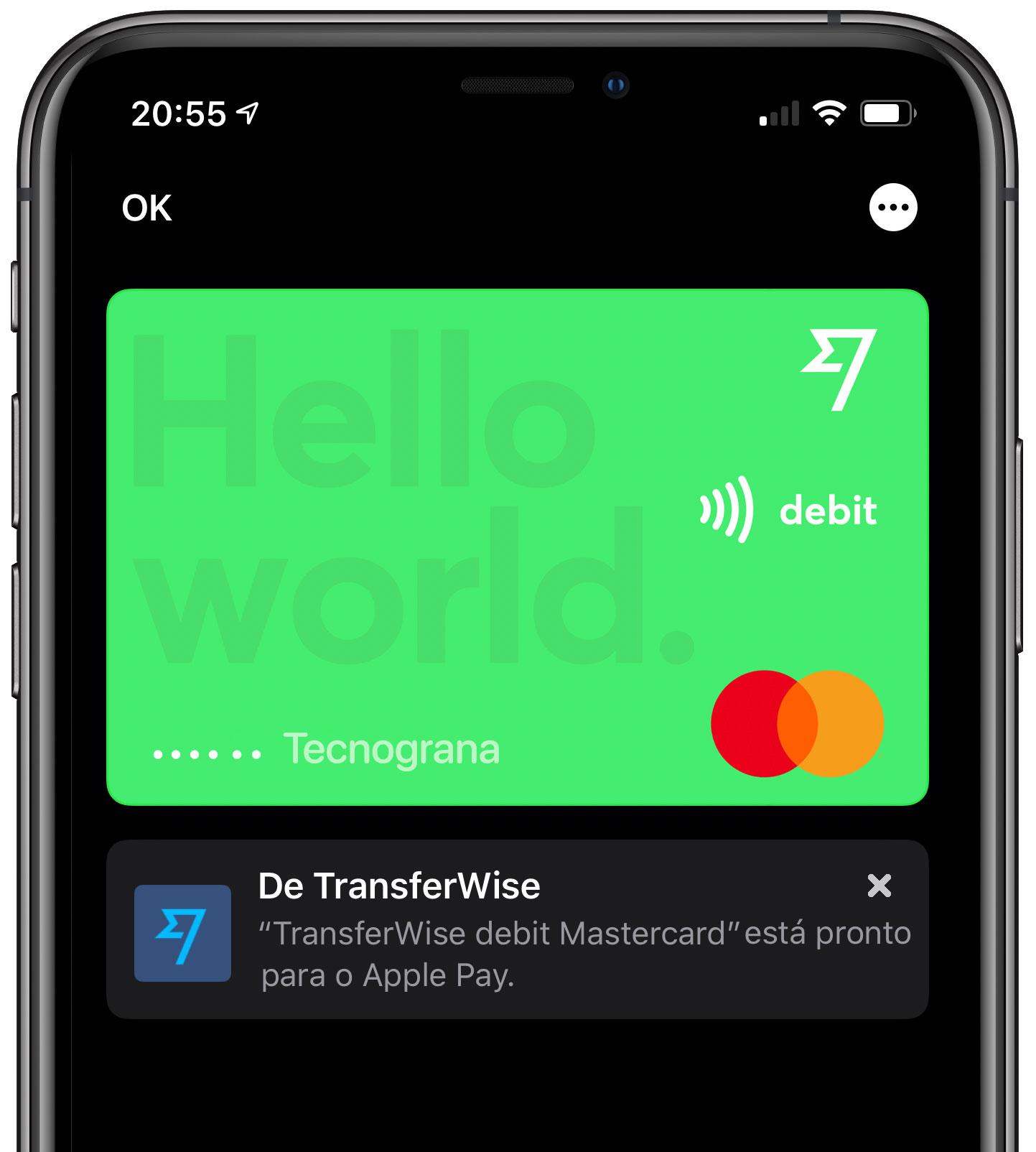 ApplePay-Transferwise Cartão de débito da Transferwise agora é compatível com Apple Pay
