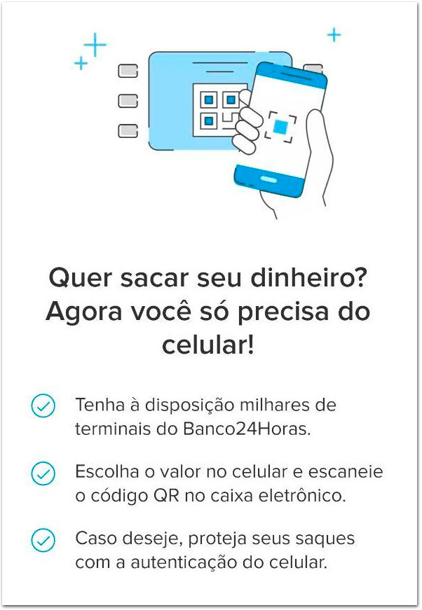 saqueMP MercadoPago passa a permitir saques sem cartão nos terminais do Banco24Horas