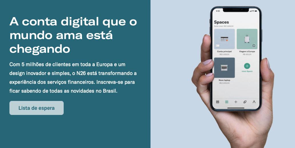 N26-brasil Banco digital N26 adia seus planos de chegada ao Brasil