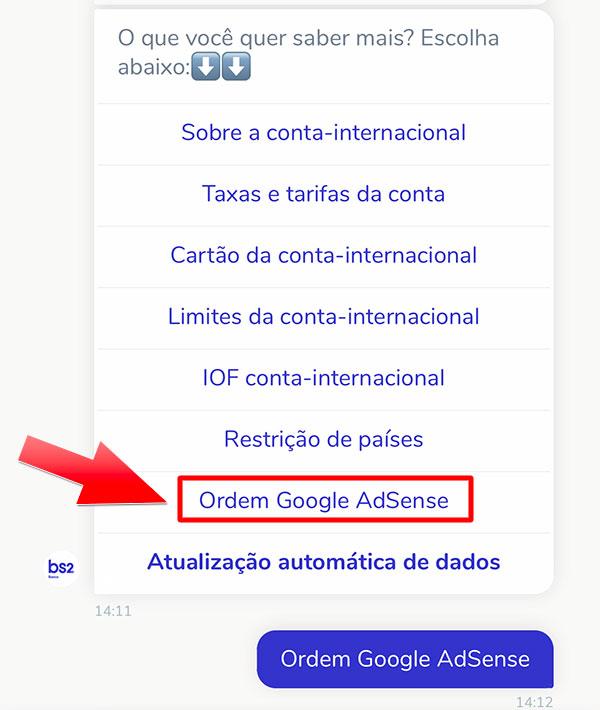 Chat_BS2_2 Ficou um pouco mais complicado receber pagamentos do AdSense pelo Banco BS2 (atualizado)