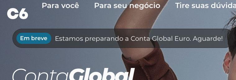 contaeuro C6 Bank irá lançar Conta Global em Euro para brasileiros