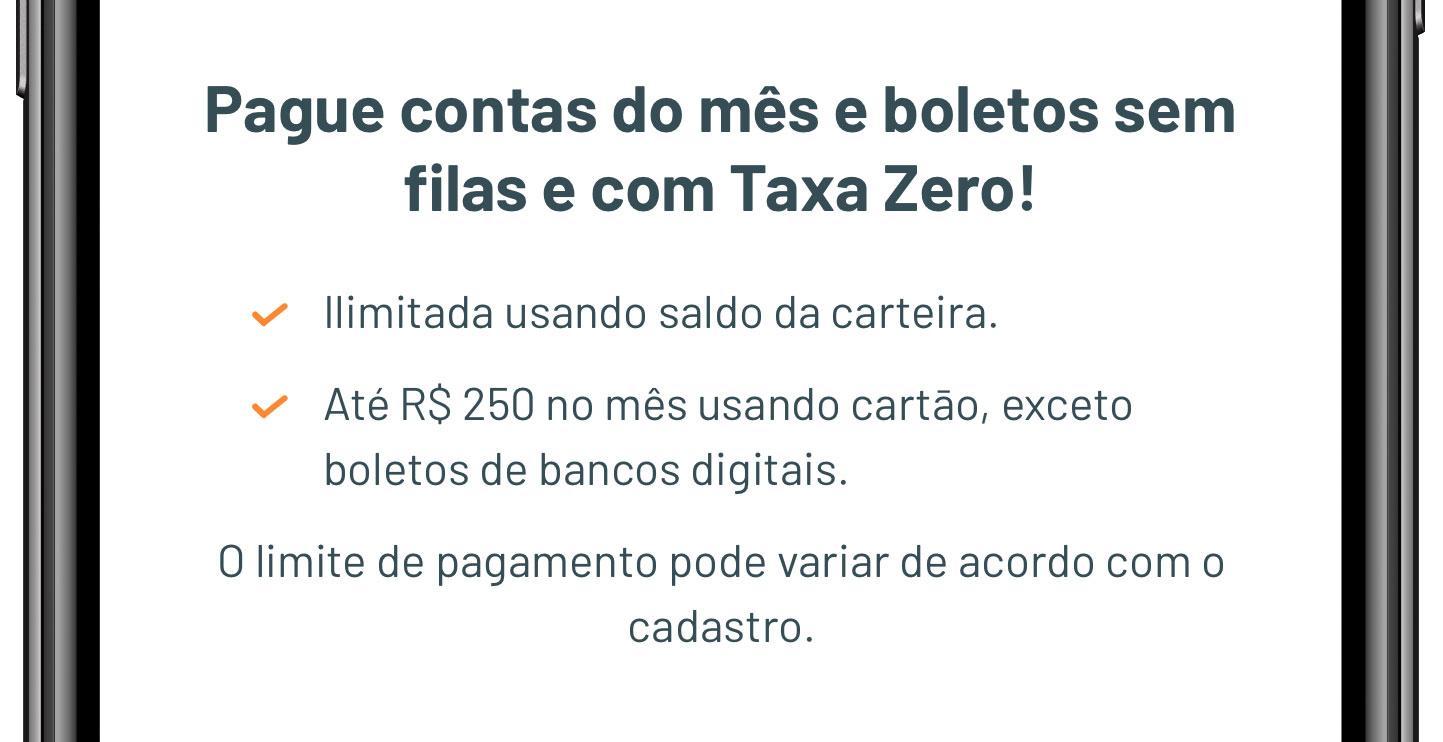 regargataxa RecargaPay baixa para R$ 250 seu limite para pagamentos de boletos com cartão de crédito