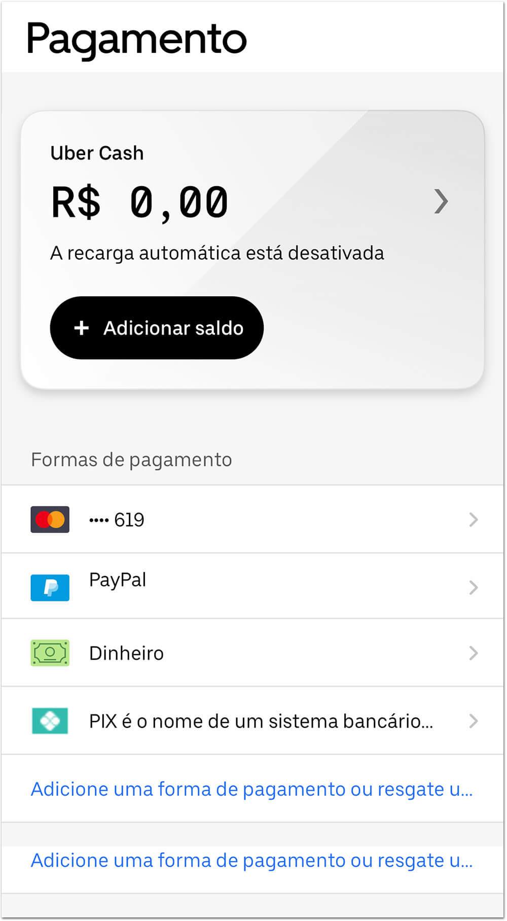 uberpix1 Como pagar o UBER com o Pix