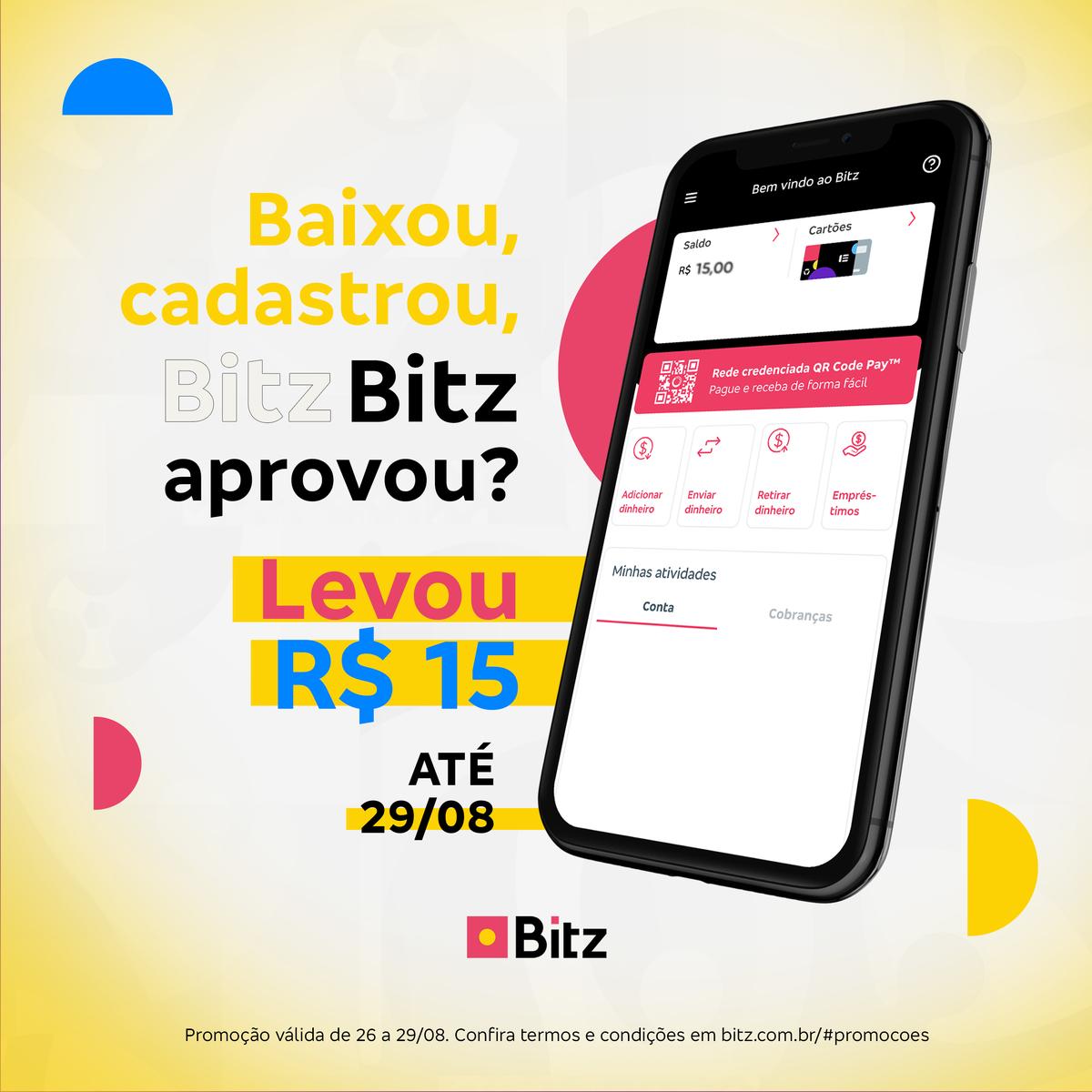 Promo-Relampago_ago Ganhe R$15 ao abrir uma conta Bitz até 29 de setembro
