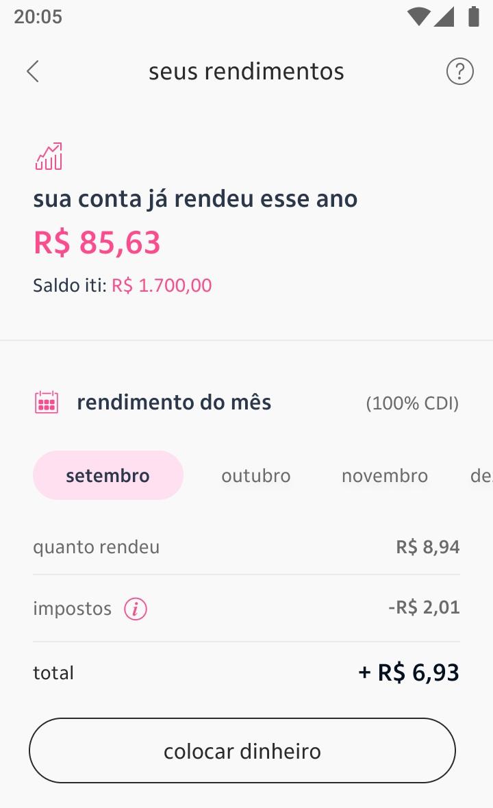 Rendimento_2 Dinheiro parado na carteira do iti renderá 100% do CDI a partir de setembro